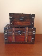 "2 Wood Box Chests - 11"" L x 7"" H and 9"" L x 5"" H in Chicago, Illinois"