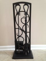 "Wrought Iron Fireplace Set (4 tools and holder) - 29"" H x 11"" L in Chicago, Illinois"