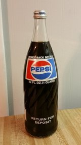 Vintage Pepsi Bottle * FULL in Fort Benning, Georgia