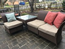 : ) Patio Furniture Wicker Sectional : Great Set !!! in Chicago, Illinois