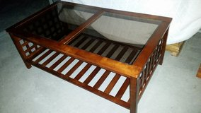 Beautiful 3 huge livinroom tables set all wood made in El Paso, Texas