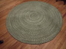 6' Round Green braided Rug in Pasadena, Texas