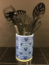 Disney MICKEY'S DINER Mickey Mouse Blue/Yellow Stoneware Utensil Holder in Chicago, Illinois