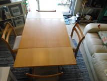 Collapsible dining room table in Okinawa, Japan