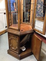 Dark Wood Curio Cabinet in Kingwood, Texas