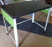 Metal Desk with Green Accent Panels in Chicago, Illinois