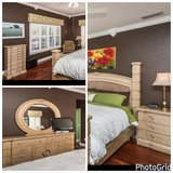 King size bedroom set in Tampa, Florida