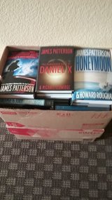 Large Box of James Patterson books in Fort Carson, Colorado