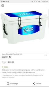 grizzly  budlight cooler in Fort Carson, Colorado