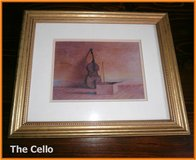 """The Cello"" ,framed / 29x24 cm in Ramstein, Germany"
