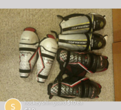 Hockey shin guard in DeKalb, Illinois