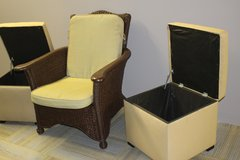 Pair of Ottomans in Tomball, Texas