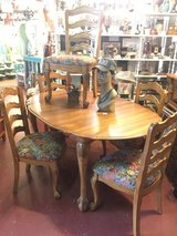 Oak French Provincial Dining Table & Chairs in Temecula, California