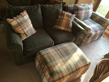 Over-sized Chair , Love Seat and Ottoman in Kankakee, Illinois