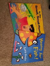 2 scholastic children's books in the small small pond and hooray for fish in Lockport, Illinois