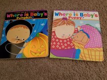 2 baby board books where is baby's pumpkin and puppy? in Lockport, Illinois