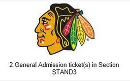 Blackhawks Round 1, Game A (1st Home Game), 2 tickets in Lockport, Illinois