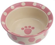 *BRAND NEW* PetRageous Designs Polka Paws Deep Pet Bowl, Pink, 2 cup in Joliet, Illinois
