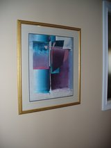 Contempory abstract print in Aiken, South Carolina