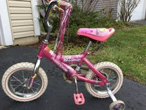 Pink girl 12 inch bike bicycle with training wheels - $25 (Naperville) in bookoo, US