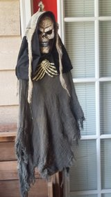 Grim Reaper halloween decor in Moody AFB, Georgia