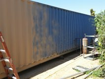 40'cargo container in Yucca Valley, California