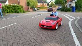Corvette electric car in Lakenheath, UK