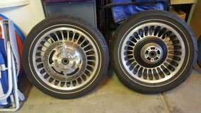 Harley Davidson Road King stock rims in Sacramento, California