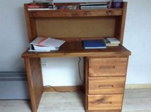 Solid wood Desk with hutch/2 piece in Ramstein, Germany
