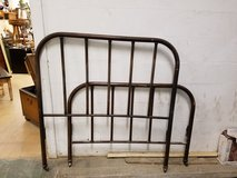 Antique Metal Full size bed with original springs/ box spring in Chicago, Illinois