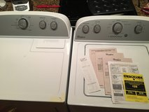 Whirlpool electric washer and dryer under warrantee at lowes in Columbus, Georgia