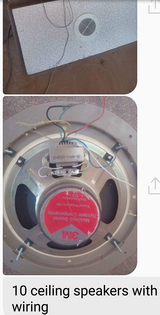 10 ceiling speakers with wiring in Alamogordo, New Mexico