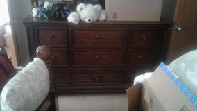 Large dresser with matching night stand in Oklahoma City, Oklahoma