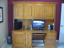 Computer desk and hutch - solid wood in Aiken, South Carolina