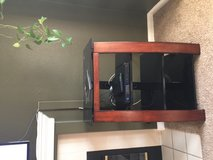 Glass entertainment shelf in bookoo, US