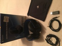 Sony Gold Wireless gaming headset, works on PC and Playstation in Lawton, Oklahoma