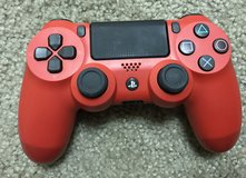 Red PS4 controller in Fort Irwin, California