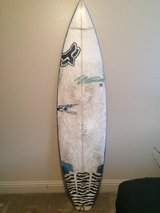 Needs some work: surfboard in San Clemente, California