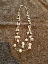 3 tiered silver and pearl necklace in Naperville, Illinois