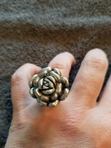 Silver flower ring in Naperville, Illinois
