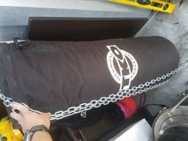 75lb punching bag with gloves and wraps in Camp Lejeune, North Carolina
