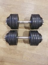 Two 52.5 LB adjustable dumbells in Camp Pendleton, California
