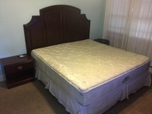 Beautyrest king size bed with nightstand, frame and headboard in Beaufort, South Carolina