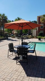 Patio set includes 4 chairs and umbrella in Beaufort, South Carolina