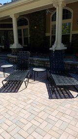 Set of loungers and side tables in Beaufort, South Carolina