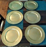 Set of 6 Gold Leaf Place Setting Chargers in Wilmington, North Carolina