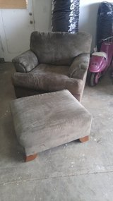 Dark green end couch chair with ottoman in Travis AFB, California