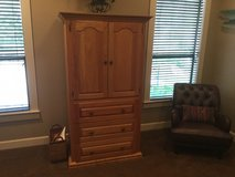 Solid Oak Armoire.  41w x 27d x 73  Tv is free if interested. in bookoo, US