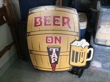 Vintage Beer Sign in Baytown, Texas