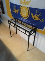 Black Metal and Glass Sofa Table Entry Table in Joliet, Illinois